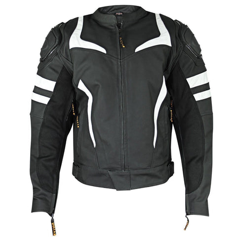 Vulcan  Mens Black/White Armored Jacket