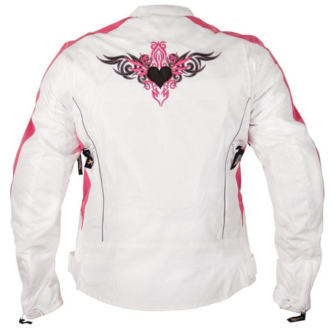 Xelement 'Tribal Heart' Women's Tri-Tex Motorcycle Jacket