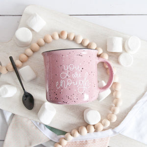[IMPERFECT] You Are Enough Pink Camp Mug