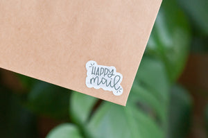 Diecut Happy Mail Stickers