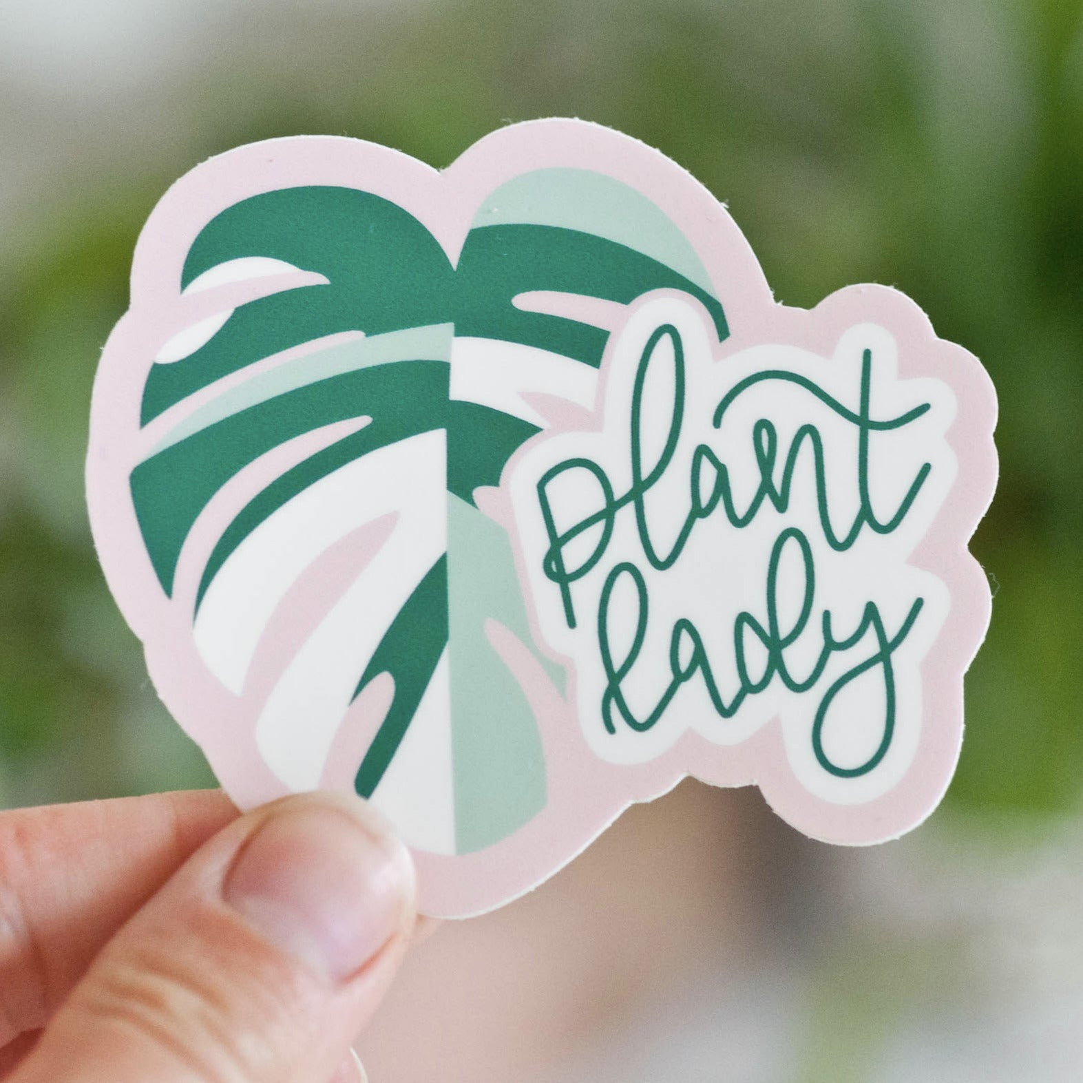 "3"" Plant Lady Monstera Sticker"