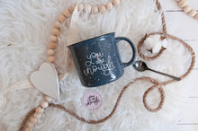 Load image into Gallery viewer, You Are Enough Grey Camp Mug