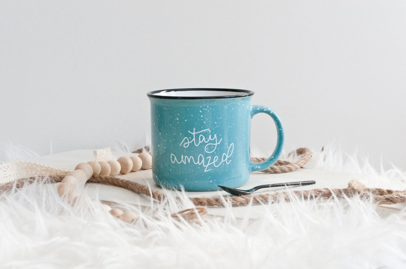 Stay Amazed Camp Mug
