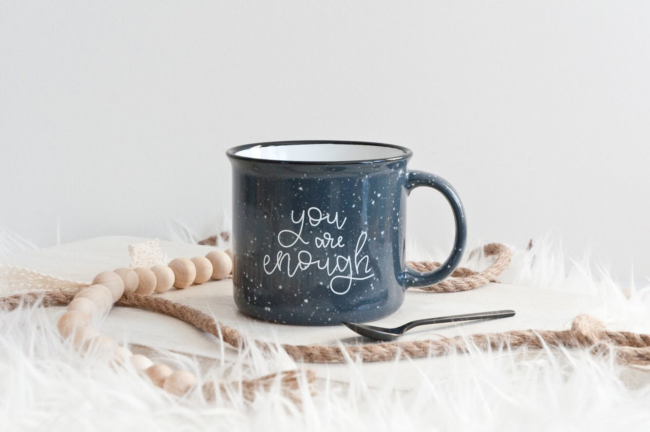 You Are Enough Grey Camp Mug
