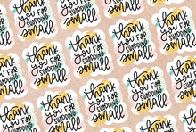 Load image into Gallery viewer, Diecut Thank You/Shop Small Stickers