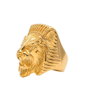 Gold Lion ring - Frosty Jewelz