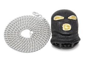 (Balaclava) Mask Head Pendant - Frosty Jewelz