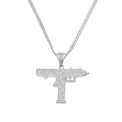 Gun Pendant Necklace - Frosty Jewelz