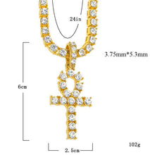 Load image into Gallery viewer, Ankh Pendant Chain - Frosty Jewelz