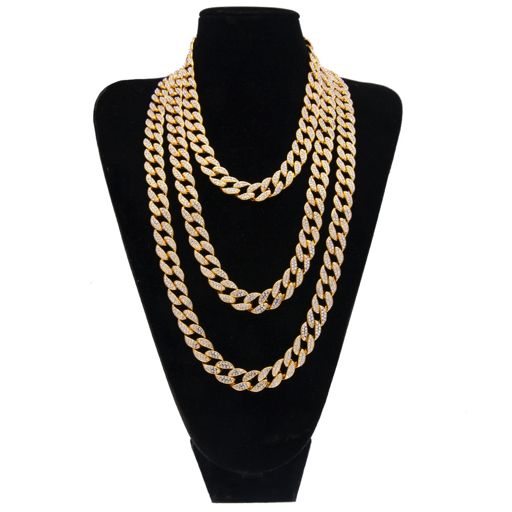 15mm Choker Cuban Chain - Frosty Jewelz