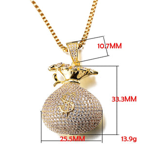 Money Bag Pendants - Frosty Jewelz