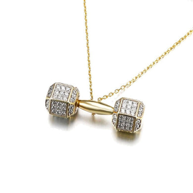 Barbell Pendant - Frosty Jewelz