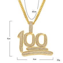 Load image into Gallery viewer, Iced out 100 emoji pendant - Frosty Jewelz