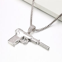Load image into Gallery viewer, Pistol Gun Pendant - Frosty Jewelz