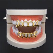 Load image into Gallery viewer, Hollow Top Bottom Fangs Grillz Set - Frosty Jewelz