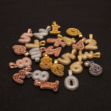 Load image into Gallery viewer, (GOLD) 0-9 Custom Bubble Numbers Pendants - Frosty Jewelz