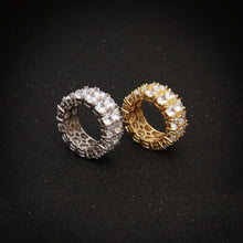Load image into Gallery viewer, 2 Row big stone rings - Frosty Jewelz