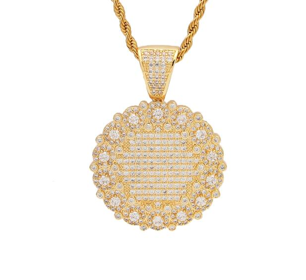 Round Medallion Pendant - Frosty Jewelz