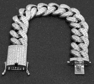 Iced Out Miami Cuban Bracelet - Frosty Jewelz