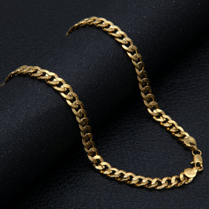 9mm Gold Cuban Curb Chain - Frosty Jewelz