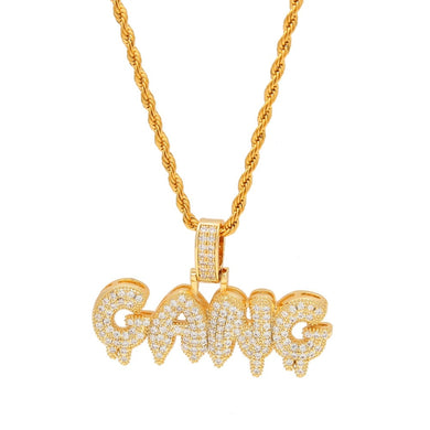 Custom Iced Out Gang Pendant - Frosty Jewelz