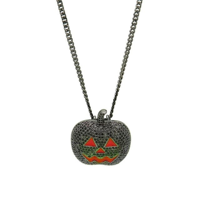 Halloween Pumpkin Necklace - Frosty Jewelz