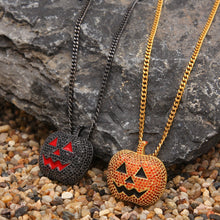 Load image into Gallery viewer, Halloween Pumpkin Necklace - Frosty Jewelz