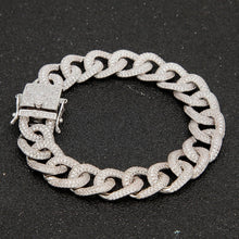 Load image into Gallery viewer, 12mm Cuban Bracelet Iced Out - Frosty Jewelz