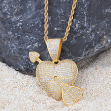 Load image into Gallery viewer, Arrow Through the Heart Necklace - Frosty Jewelz