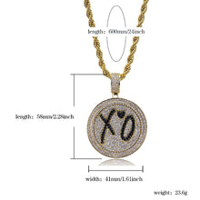 Load image into Gallery viewer, XO Spinner Pendant Necklace - Frosty Jewelz