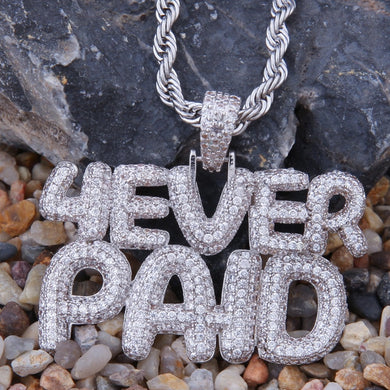 4 Ever Paid Full Iced Out Pendant - Frosty Jewelz