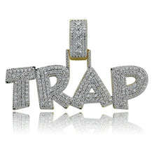 Load image into Gallery viewer, TRAP Pendant Necklace Iced Out - Frosty Jewelz