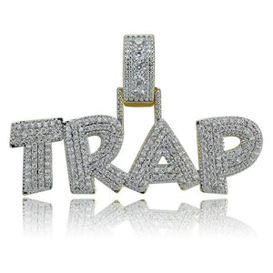 TRAP Pendant Necklace Iced Out - Frosty Jewelz