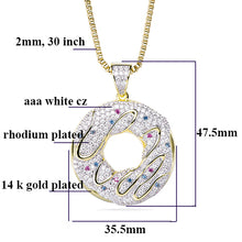 Load image into Gallery viewer, Doughnut Necklaces Pendants - Frosty Jewelz