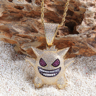 Emoji Pendant With Baguette Stones - Frosty Jewelz