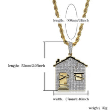 Load image into Gallery viewer, TRAP House Pendant Necklace - Frosty Jewelz
