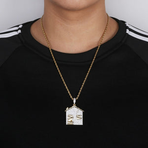 TRAP House Pendant Necklace - Frosty Jewelz