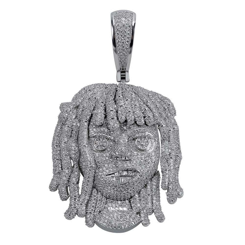 Lil Pump Pendant With 10mm Cuban Chain Full Iced Out - Frosty Jewelz