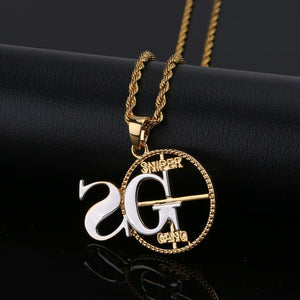 SNIPER Pendant Necklace - Frosty Jewelz