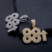 Load image into Gallery viewer, Solid Back 88rising Iced Out Pendant - Frosty Jewelz