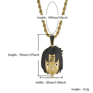 Naruto Uchiha Sasuke Pendant Necklace - Frosty Jewelz