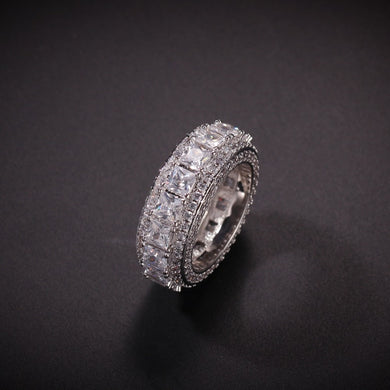 5 Row Round and Square Ring - Frosty Jewelz