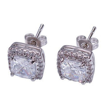 Load image into Gallery viewer, Earrings Square Round 9MM - Frosty Jewelz