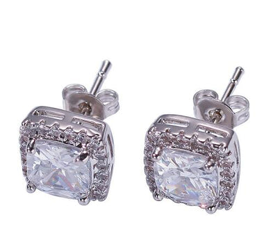 Earrings Square Round 9MM - Frosty Jewelz