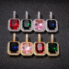 Load image into Gallery viewer, Iced Out Ruby Pendant Necklace