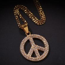 Load image into Gallery viewer, Full Iced Out Peace Pendant