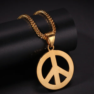 Full Iced Out Peace Pendant - Frosty Jewelz