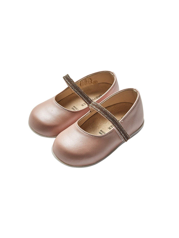 Bébé - Babywalker Single Strap Crystal Embellished Ballerinas