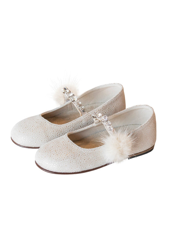 Single Strap Swarovski Crystal Embellished Ballerinas