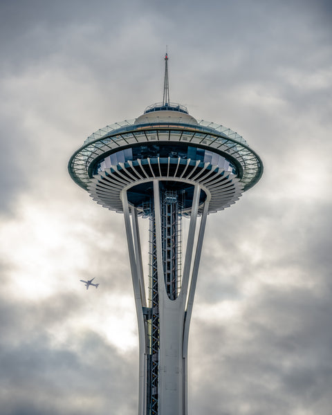 Space Needle with Airplane